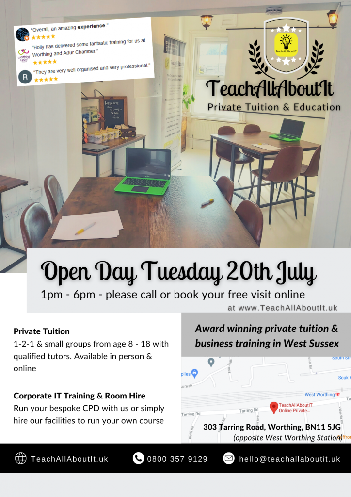 TeachallAboutIt Open Day 20th July